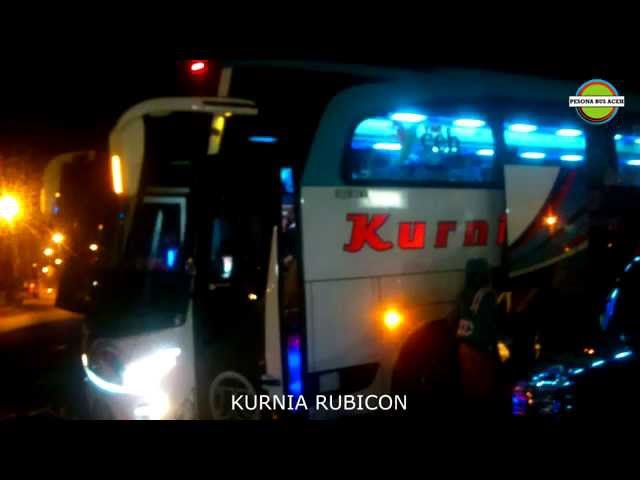 Bus Mercedes Benz race with Bus Scania  Pesona Bus Aceh