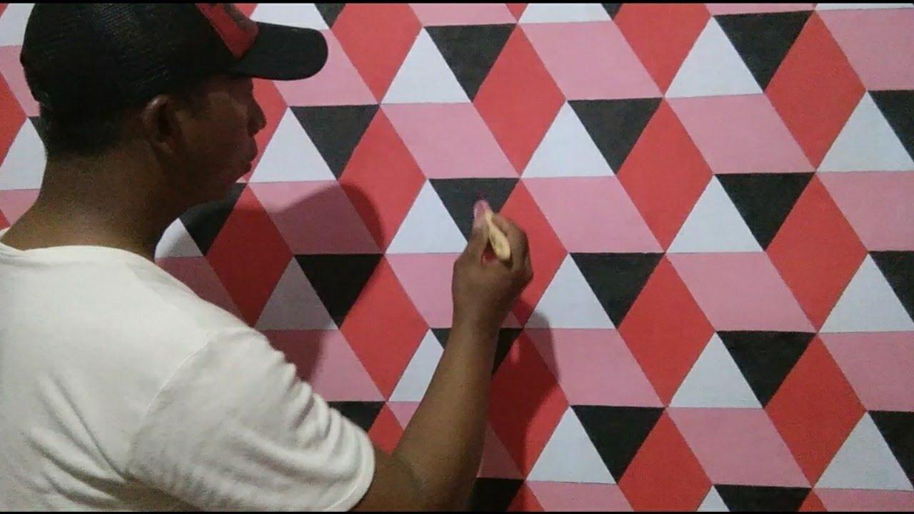 Keren Banget..3D Wall Painting | Cat Tembok 3D | Cara ...