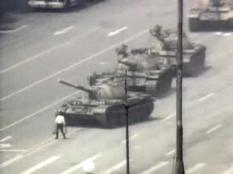 Tiananmen Square Beijing 1989 The tank hero
