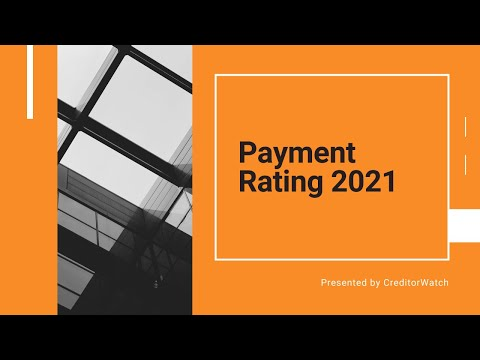 CreditorWatch Payment Rating 2021