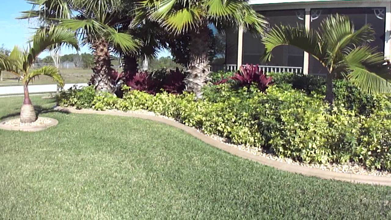 Low Maintenance Front Yard Tropical Landscape By Construction