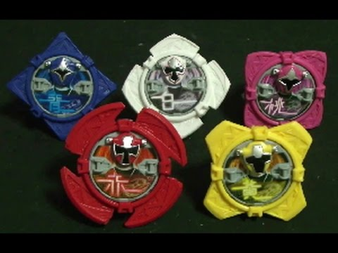 파워레인저 닌자포스 회전수리검 장난감 power rangers ninja steel toys - youtube