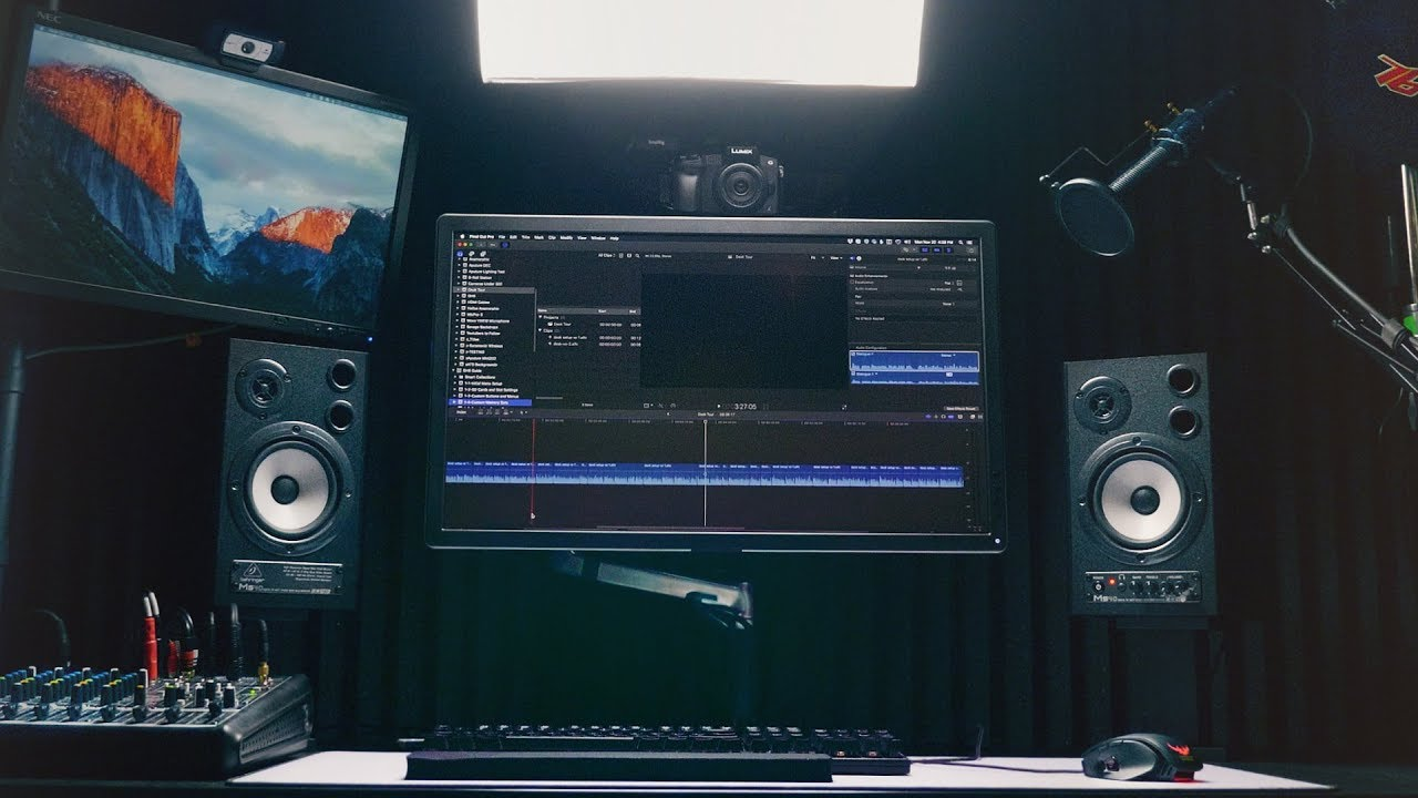 Ultimate Streaming And Video Editing Desk Setup Youtube