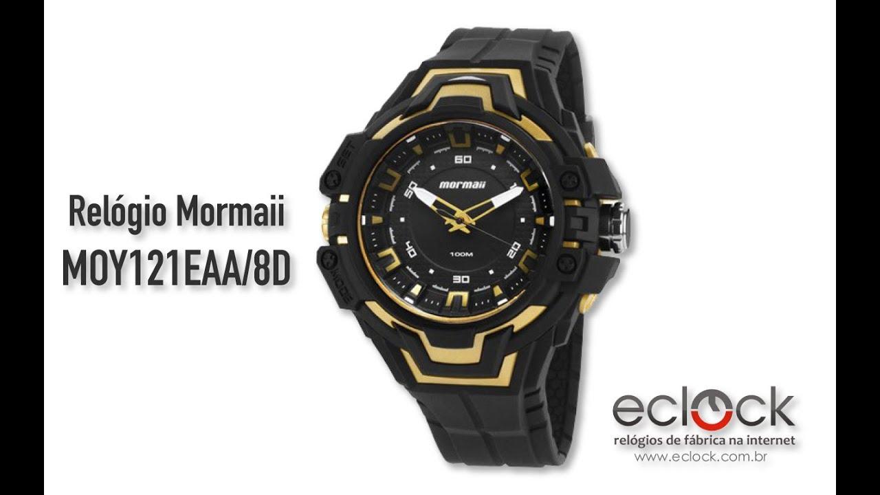 1b21d77b6b766 Relógio Mormaii Masculino MOY121EAA 8D - Eclock - YouTube