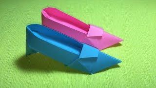 Origami high heels design - shoe tutorial DIY