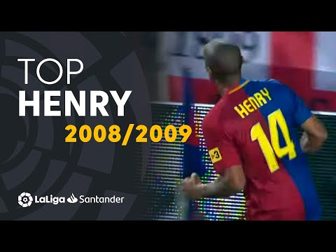 TOP Goles Thierry Henry LaLiga Santander 2008/2009