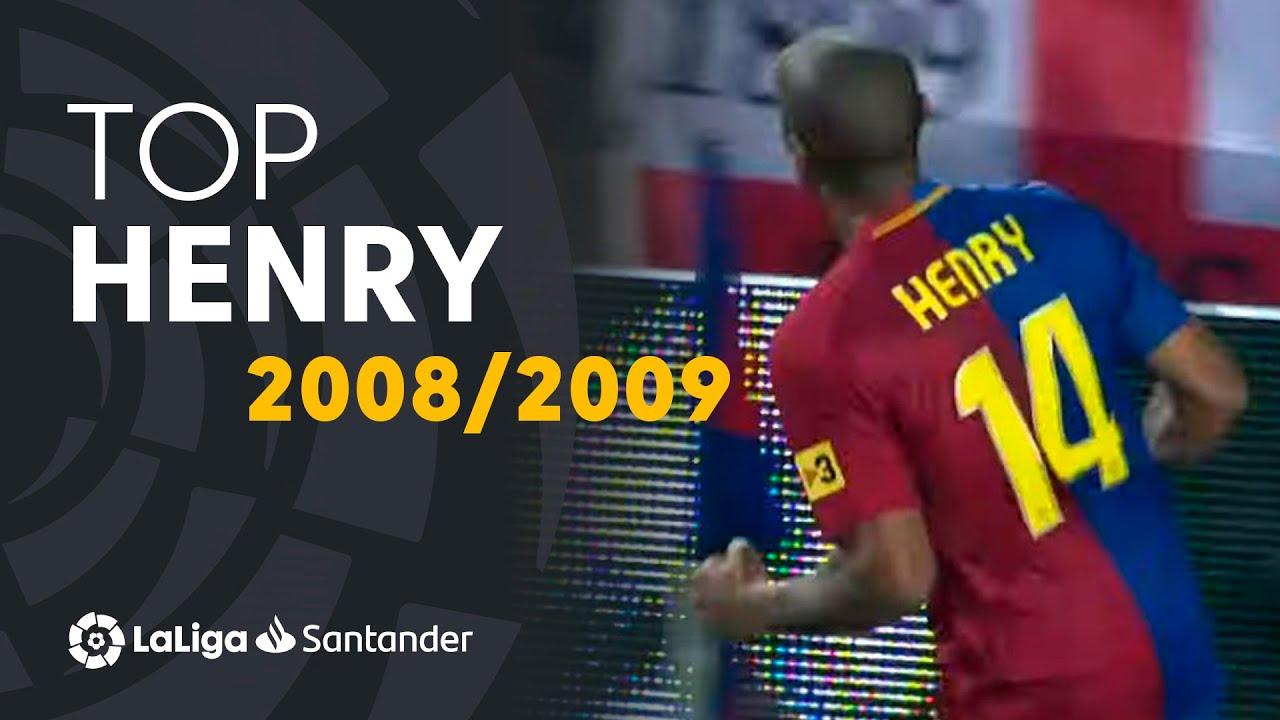 TOP Goles Thierry Henry LaLiga Santander 2008/2009