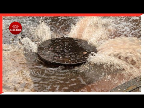 Raw sewage bursts, floods Accra street in Kisumu after heavy downpour