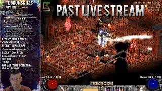 Diablo 2 -Lite Sorc Baal Runs Pushing the XP bar 04/26/2018