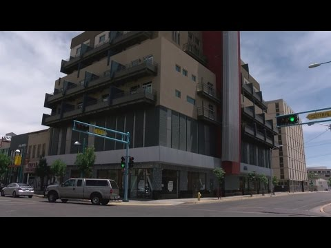 Anasazi building in downtown Albuquerque now home to charter school