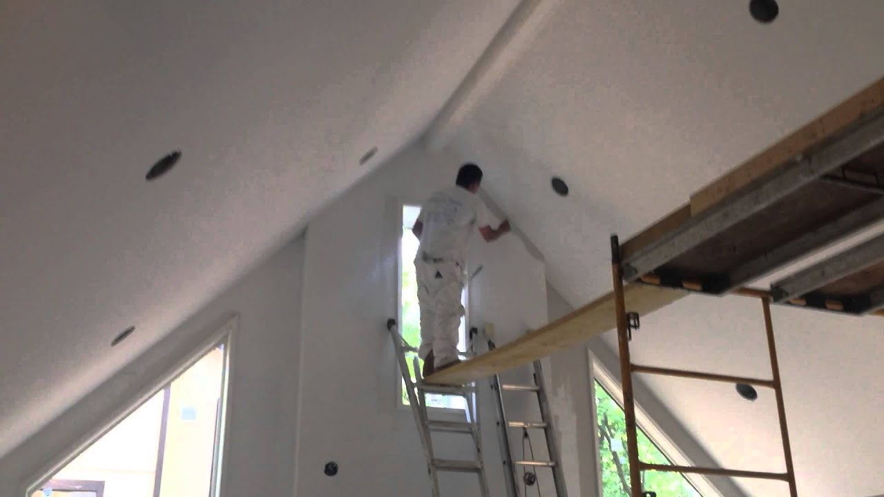 Us painting a 400 000 6 room addition with cathedral for How to paint a vaulted ceiling room