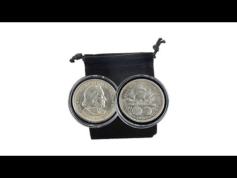 1892 And 1893 Christopher Columbus Silver Half Dollar Set