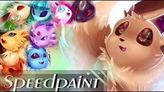 Eeveelutions Speedpaint - BIGGEST SPEEDPAINT (Pokemon) The possibilities