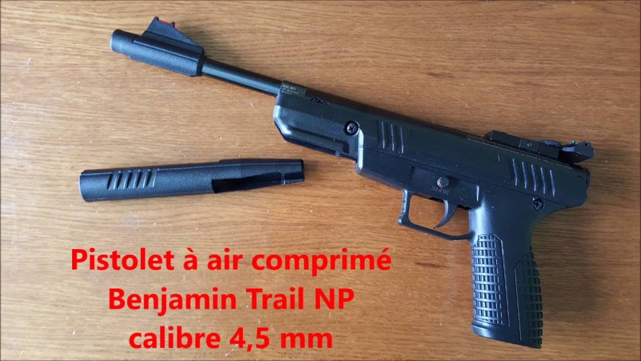 pistolet air comprim benjamin trail np nitro piston 4 5 mm 177 youtube. Black Bedroom Furniture Sets. Home Design Ideas