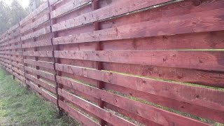 Дешевый забор из дерева своими руками.