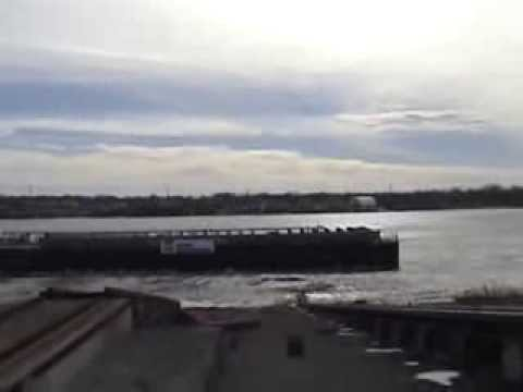 AEP River Operations tank barge launch AEP 10001