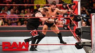 Braun Strowman & Kevin Owens vs. Finn Bálor & Constable Baron Corbin: Raw, June 25, 2018