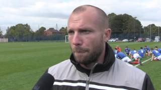 Ian Foster speaks after Cardiff friendly