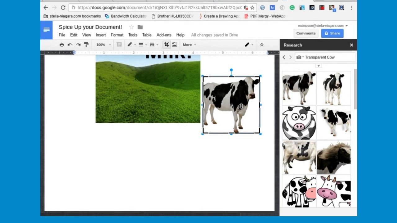 Google Docs Adding Transparent Photos Youtube