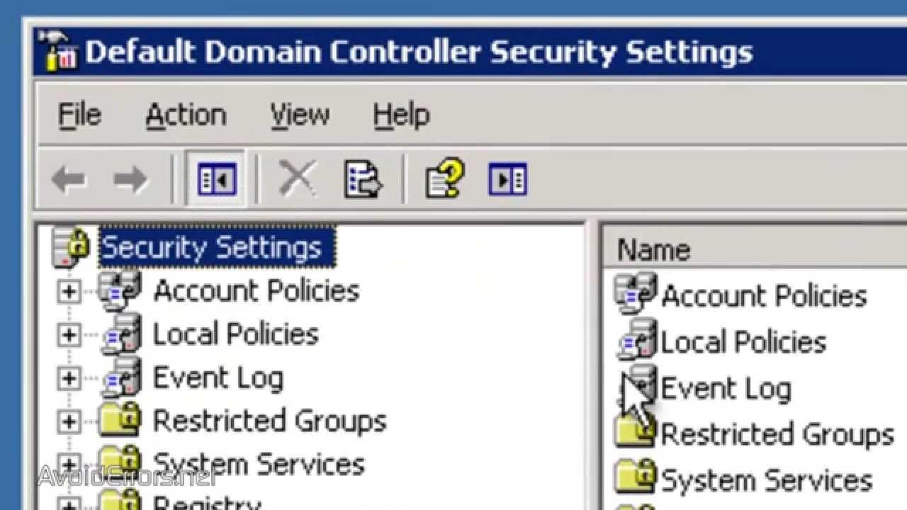 Tắt Chế Độ Phức Tạp Của Mật Khẩu Trong Windows Server 2003 - VERA STAR