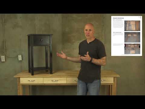 DIY Rustic Farmhouse Nightstand