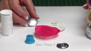 How To: Make a (No-Sew) Covered Button with Slippery or Fuzzy Fabric