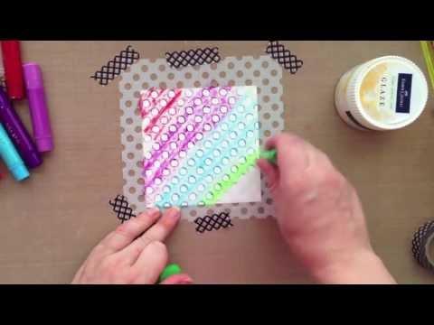 Design Memory Craft Faber Castell Gelatos - Simply Gelatos Video 3: WET