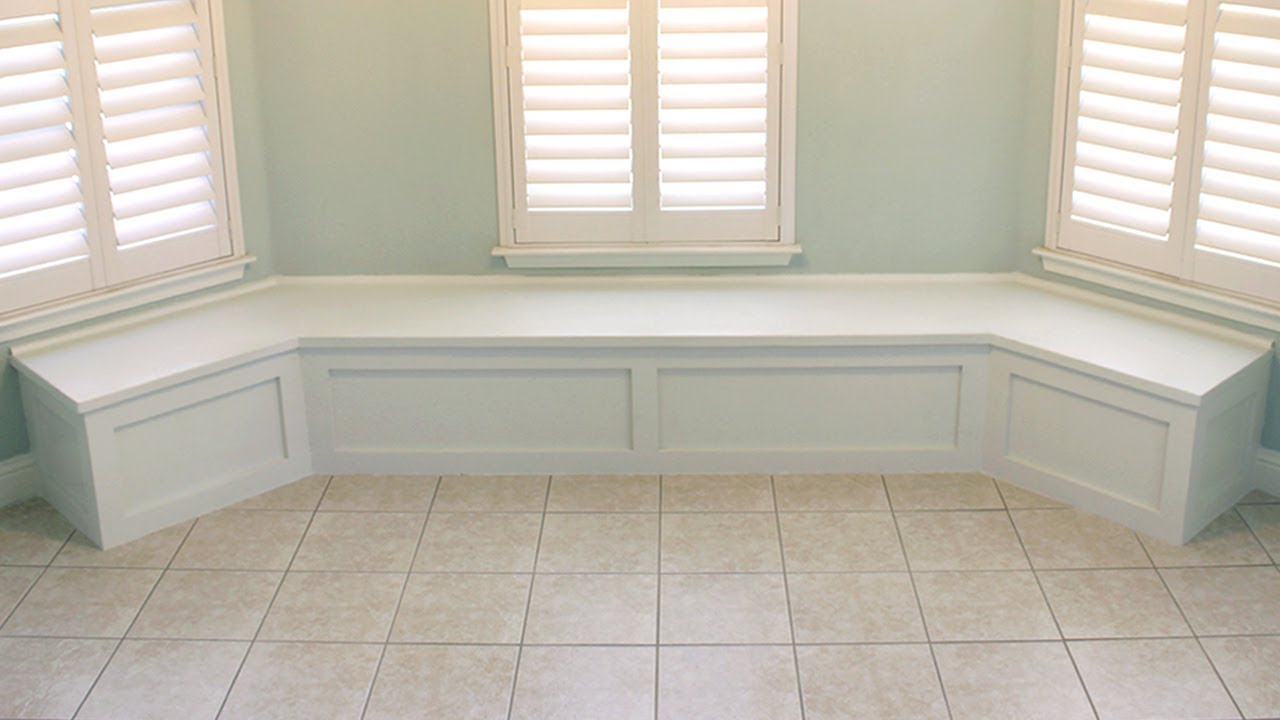 How To Build Bench Seating For Bay Window Nook Banquette