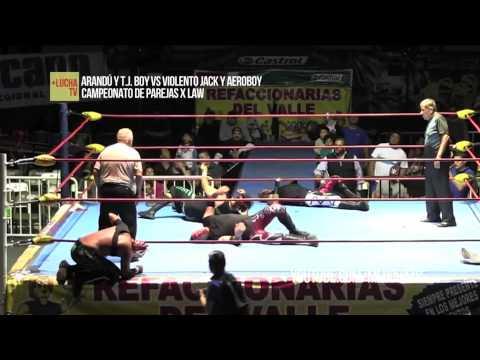 Compares Extremos vs Locos del Ring, campeonato de parejas X LAW