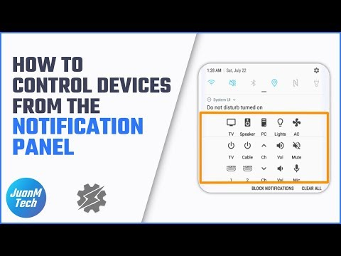 Control devices from the Android notification panel using