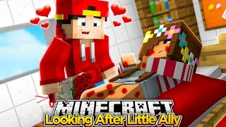 Minecraft Adventure - LITTLE ALLY IS SICK SO ROPO LOOKS AFTER HER!!!