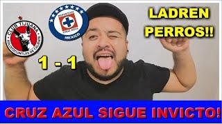 XOLOS VS CRUZ AZUL 1 - 1 GOL POLÉMICO  /  REACCIÓN