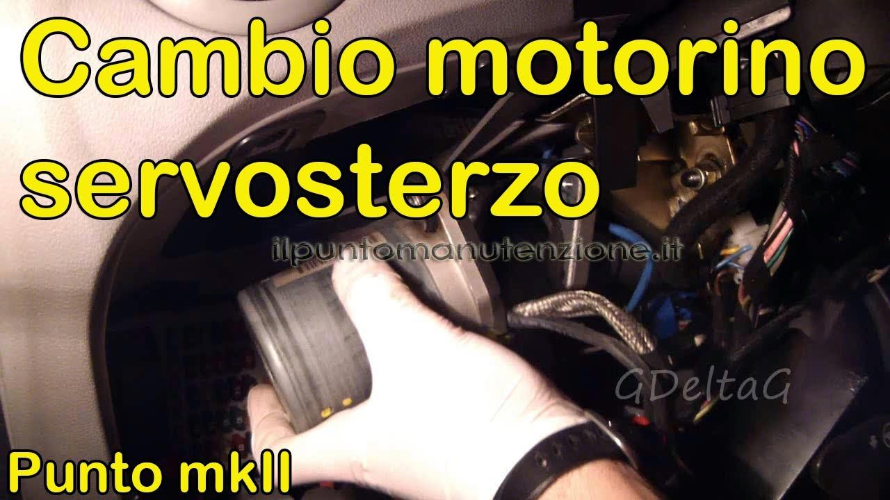 Schema Elettrico City : Sostituzione motorino servosterzo elettrico city fiat punto mk