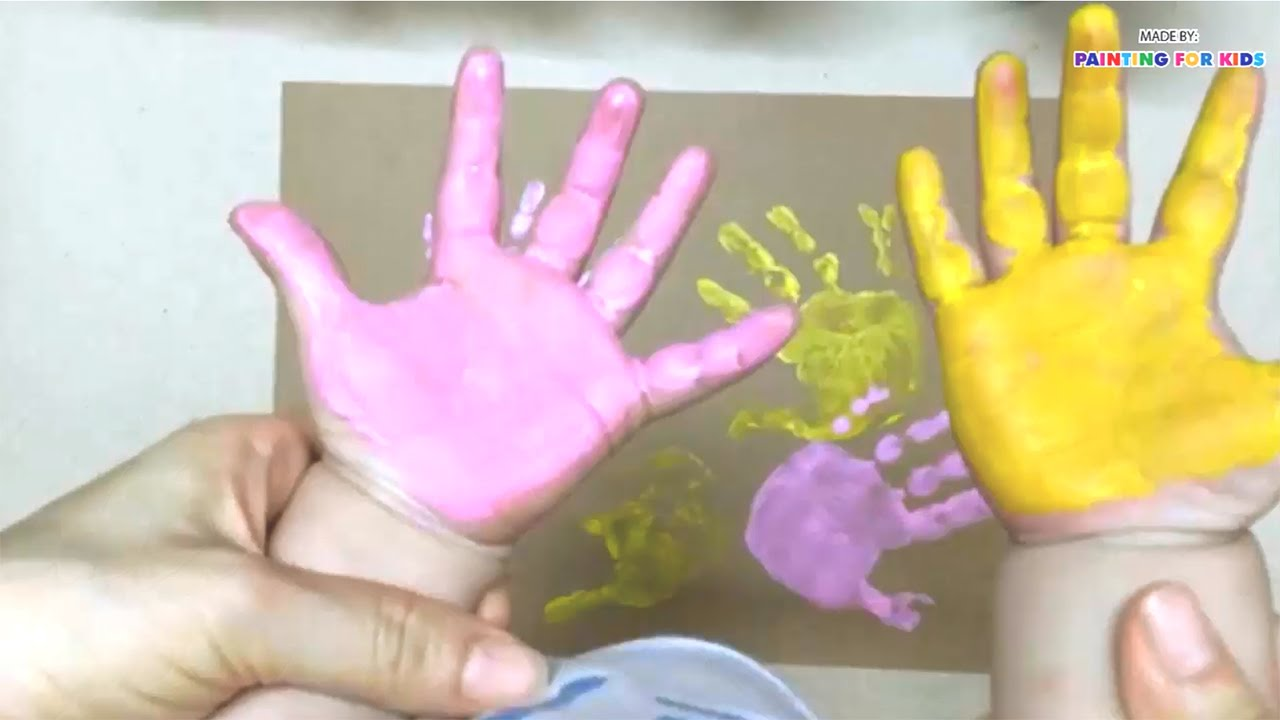 hand printing for kids finger painting for kids painting with hand art for kids