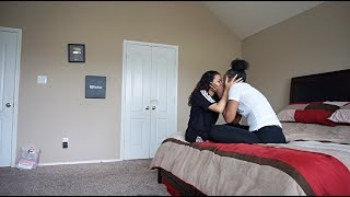 BABY MAMA CREW CAUGHT KISSING PRANK ON KING & COREY!!!