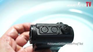 holosun paralow hs403a waterproof test