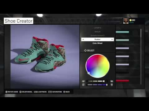 "NBA 2K15 Shoe Creator - Nike LeBron 12 ""Christmas / Akron Birch"""