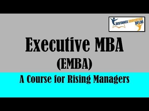 Executive MBA - EMBA - Distance Education Delhi