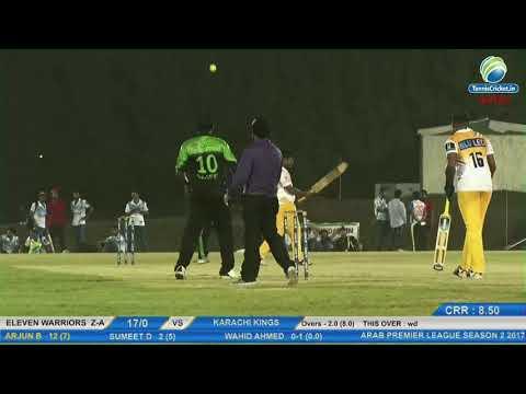 Eleven Warriors Z-A VS Karachi Kings | Arab Premier League 2017, Dubai
