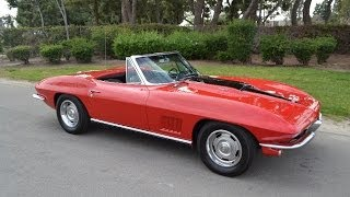 SOLD 1967 Corvette 427/390hp Convertible in Rally Red for sale by Corvette Mike