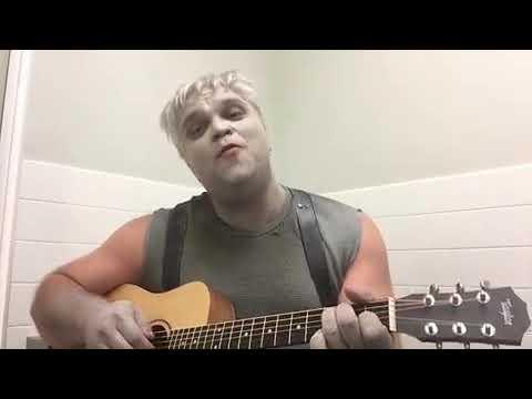 Drew Powell  Gotham  star singing dressed as solomon grundy