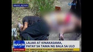 Saksi Lalaki at kinakasama patay sa tama ng bala sa ulo sa Bataan