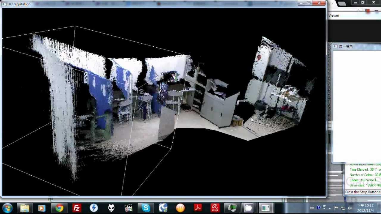 kinect 3D Point Cloud Registration