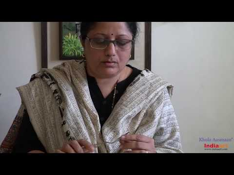 Painting video of step by step canvas painting by artist and art teacher Chitra Vaidya