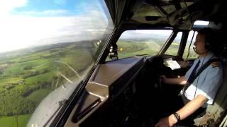 bae atp flight deck flying between edinburgh and aberdeen in the atp