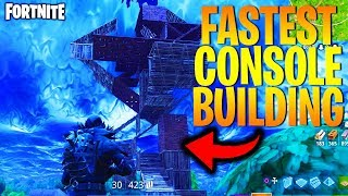*HOW* to BUILD FASTER THAN PC on CONSOLE! - (Fortnite Battle Royale - NEW FASTEST BUILDING SETTINGS)