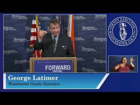 Westchester County Executive George Latimer holds COVID-19 briefing on Monday, Dec. 7.