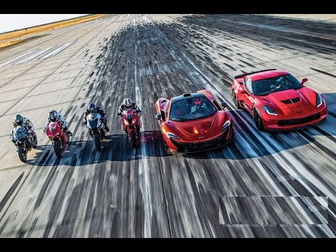 Superbikes Vs. Supercars – PERFORMANCE SHOOTOUT