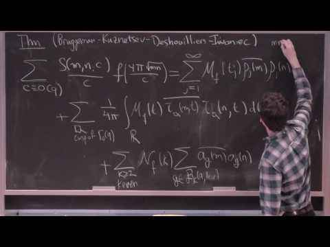 Lecture 3a: The Kuznetsov Formula, Kloostermania and Applications by Ian Petrow