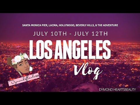 L.A. Vlog | Santa Monica Pier, Fights In Hollywood, LACMA, + IN & OUT BURGER